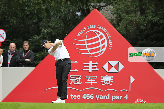 Thomas Pieters (BEL) on the 5th tee during the final round of the WGC-HSBC Champions, Sheshan International GC, Shanghai, China PR.  30/10/2016<br /> Picture: Golffile | Fran Caffrey<br /> <br /> <br /> All photo usage must carry mandatory copyright credit (&copy; Golffile | Fran Caffrey)