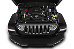 Car stock 2019 Jeep Wrangler Unlimited Sahara 5 Door SUV engine high angle detail view