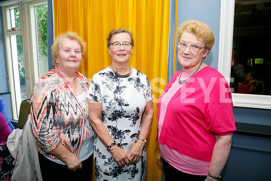 Enjoying the Sliabh Luachra Active Retired Gala Tea Dance at Ballygarry House Hotel & Spa on Monday were June Fitzgerald, Sheila Barns and Lill O'Leary from Ballymac