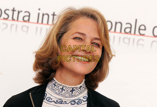 """CHARLOTTE RAMPLING.Photocall for film """"Ver le Sud """" at the Venice Film Festival..September 7th, 2005.headshot portrait.www.capitalpictures.com.sales@capitalpictures.com.© Capital Pictures."""