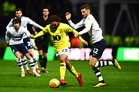 Blackburn Rovers' Bradley Dack vies for possession with  Preston North End's Paul Gallagher<br /> <br /> Photographer Richard Martin-Roberts/CameraSport<br /> <br /> The EFL Sky Bet Championship - Preston North End v Blackburn Rovers - Saturday 24th November 2018 - Deepdale Stadium - Preston<br /> <br /> World Copyright © 2018 CameraSport. All rights reserved. 43 Linden Ave. Countesthorpe. Leicester. England. LE8 5PG - Tel: +44 (0) 116 277 4147 - admin@camerasport.com - www.camerasport.com