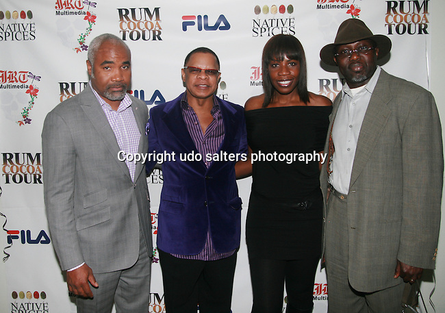 Guest, Front Row Productions, Inc. President/CEO Stephen C. Byrd, Sandi Sheppard and Global Network For Humanity's Founder/President Doctor Adebola Orafidiya Attend Jocelyn Taylor's Birthday Celebration and Official Launch of JRT Multimedia, LLC(A Luxury Branding Company)at Nikki Beach Midtown, New York, 3/26/2011