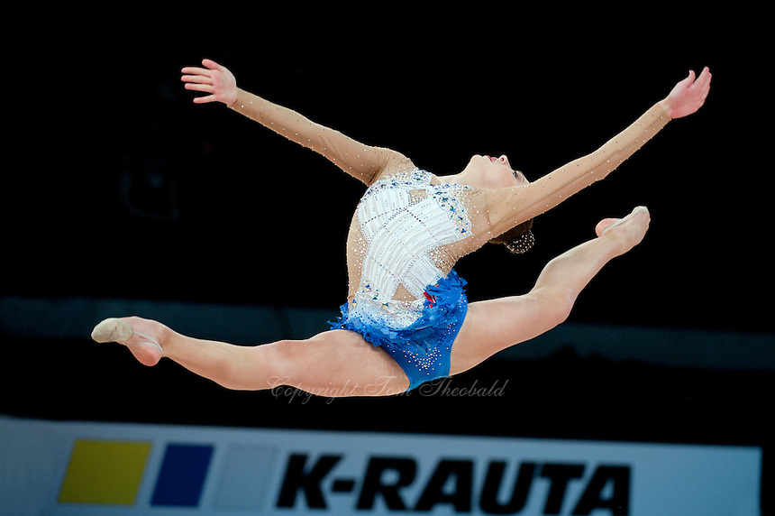 February 28, 2016 - Espoo, Finland - MELITINA STANIOUTA of Belarus performs at Espoo World Cup 2016.