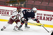 Alexander Kerfoot (Harvard - 14), Tommy Miller (NTDP - 12) - The Harvard University Crimson defeated the US National Team Development Program's Under-18 team 5-2 on Saturday, October 8, 2016, at the Bright-Landry Hockey Center in Boston, Massachusetts.