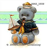 GIORDANO, CUTE ANIMALS, LUSTIGE TIERE, ANIMALITOS DIVERTIDOS, Teddies, paintings+++++,USGI1039,#AC# teddy bears