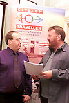 Derek McDonnell, coordinator Drogheda Travellers Group and Fintan Farrell, coordinator Irish Traveller Movement at the press briefing in the Ballymascanlon Hotel in Dundalk..Picture Paul Mohan Newsfile.SEE ACCOMPYING FAXED PRESS RELEASE FOR MORE DETAILS.NO REPRO FEE