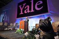 Yale University Department of Athletics Blue Leadership Ball 2009. The Program Begins at the Bathed in Blue Lanman Center before Presentation of Awards to Blue Leader Honorees and Speeches.