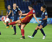 20170723 - BREDA , NETHERLANDS : English Demi Stokes (R) and Spanish Marta Corredera (L) pictured during the female soccer game between England and Spain  , the second game in group D at the Women's Euro 2017 , European Championship in The Netherlands 2017 , Sunday 23 th June 2017 at Stadion Rat Verlegh in Breda , The Netherlands PHOTO SPORTPIX.BE | DIRK VUYLSTEKE
