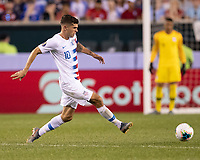 PHILADELPHIA, PA - JUNE 30: Christian Pulisic #10 during a game between Curaçao and USMNT at Lincoln Financial Field on June 30, 2019 in Philadelphia, Pennsylvania.