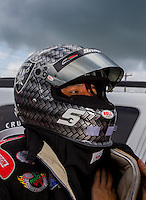 Aug 31, 2014; Clermont, IN, USA; NHRA funny car driver Cruz Pedregon during qualifying for the US Nationals at Lucas Oil Raceway. Mandatory Credit: Mark J. Rebilas-USA TODAY Sports
