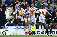 The MK Dons wall does its job at a free kick during MK Dons vs Macclesfield Town, Sky Bet EFL League 2 Football at stadium:mk on 17th November 2018