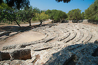 Ruins of the Roman city Pollentia theatre at Alcudia, Majorca. September 2012.