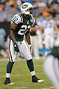 BRODNEY POOL, of the New York Jets in action during the Jets game against the Carolina Panthers  at Bank of America Stadium in Charlotte, N.C.  on August 21, 2010.  The Jets beat the Panthters 9-3 in the second week of preseason games...