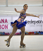 CALI - COLOMBIA - 19 - 09 - 2015: Gabriela Bolognese, deportista de Brasil, durante la prueba de Solo Danza Obligatorias Mayores Damas, en el LX Campeonato Mundial de Patinaje Artistico, en el Velodromo Alcides Nieto Patiño de la ciudad de Cali. / Gabriela Bolognese, sportwoman of Brazil, during the Compulsory Solo Dance Senior Ladies  test, in the LX World Championships  Figure Skating, at the Alcides Nieto Patiño Velodrome in Cali City. Photo: VizzorImage / Luis Ramirez / Staff.