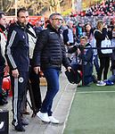15.02.2020, Stadion an der Wuhlheide, Berlin, GER, 1.FBL, 1.FC UNION BERLIN  VS. Bayer Leverkusen, <br /> DFL  regulations prohibit any use of photographs as image sequences and/or quasi-video<br /> im Bild Cheftrainer (Head Coach) Urs Fischer(1.FC Union Berlin)<br /> <br /> <br />      <br /> Foto © nordphoto / Engler<br /> Foto © nordphoto / Engler
