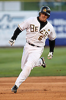 April 27, 2009:  Ryan Budde of the Salt Lake Bees, Pacific Cost League Triple A affiliate of the Los Angeles (Anaheim) Angles, during a game at the Spring Mobile Ballpark in Salt Lake City, UT.  Photo by:  Matthew Sauk/Four Seam Images