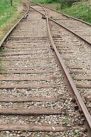 Railroad tracks in North Bend, Washington.