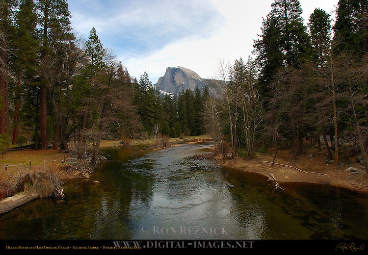 Merced River and Half Dome in March from Sentinel Bridge, Yosemite National Park