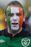 14.06.2012, GDANSK, Poland. EURO 2012, FOOTBALL EUROPEAN CHAMPIONSHIP, SPAIN versus IRELAND, Irish  fan in fancy dress and team colours