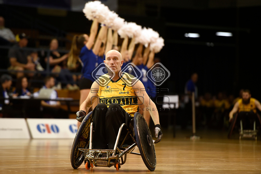 Opening Ceremony - Jason Lees (Aus)<br /> Australian Wheelchair Rugby Team<br /> 2018 IWRF WheelChair Rugby <br /> World Championship / Day 1<br /> Sydney  NSW Australia<br /> Sunday 5th August 2018<br /> © Sport the library / Jeff Crow / APC