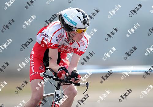 2012-04-03 / Wielrennen / seizoen 2012 / PK Tijdrijden / Thomas Smans..Foto: Mpics.be