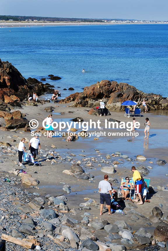 Orgunquit, Maine, USA, cove, sandy, rocky, pool, blue sky, sunshine, children, adults, 201110105077..Copyright Image from Victor Patterson, 54 Dorchester Park, Belfast, United Kingdom, UK...For my Terms and Conditions of Use go to http://www.victorpatterson.com/Victor_Patterson/Terms_%26_Conditions.html