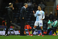 Blackburn Rovers manager Tony Mowbray issues instructions to Elliott Bennett during a break in play<br /> <br /> Photographer Kevin Barnes/CameraSport<br /> <br /> The EFL Sky Bet Championship - Blackburn Rovers v Wigan Athletic - Tuesday 12th March 2019 - Ewood Park - Blackburn<br /> <br /> World Copyright © 2019 CameraSport. All rights reserved. 43 Linden Ave. Countesthorpe. Leicester. England. LE8 5PG - Tel: +44 (0) 116 277 4147 - admin@camerasport.com - www.camerasport.com