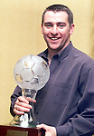 Alan Doherty from Square United who was named the Stafford Oil Meath and District League player of the year 1999/2000 at a reception in the Ardboyne Hotel, Navan on Sunday night..Picture: Paul Mohan/Newsfile
