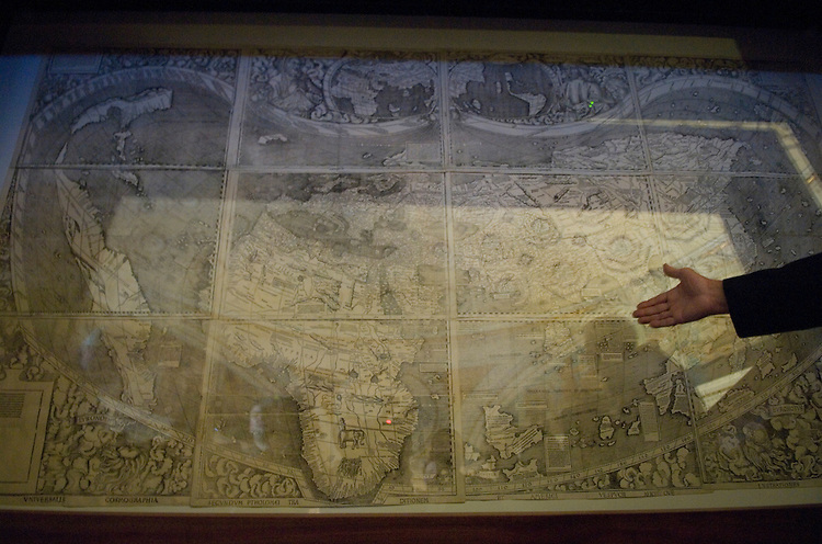 "A map from 1507 is on display as part of the Library of Congress ""Exploring the Early Americas,"" exhibition in the Thomas Jefferson Building."