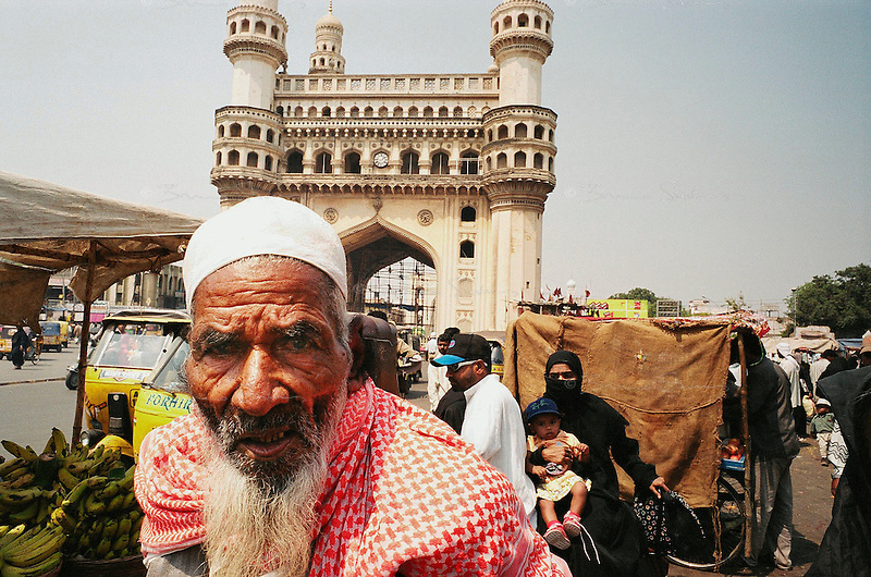Hyderabad, India, March 2002.The Char Minar (four minarets). More than 40% of this southern Indian city are Muslems.