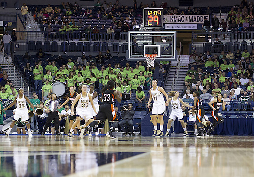 November 20, 2012:  A general view during NCAA Women's Basketball game action between the Notre Dame Fighting Irish and the Mercer Bears at Purcell Pavilion at the Joyce Center in South Bend, Indiana.  Notre Dame defeated Mercer 93-36.