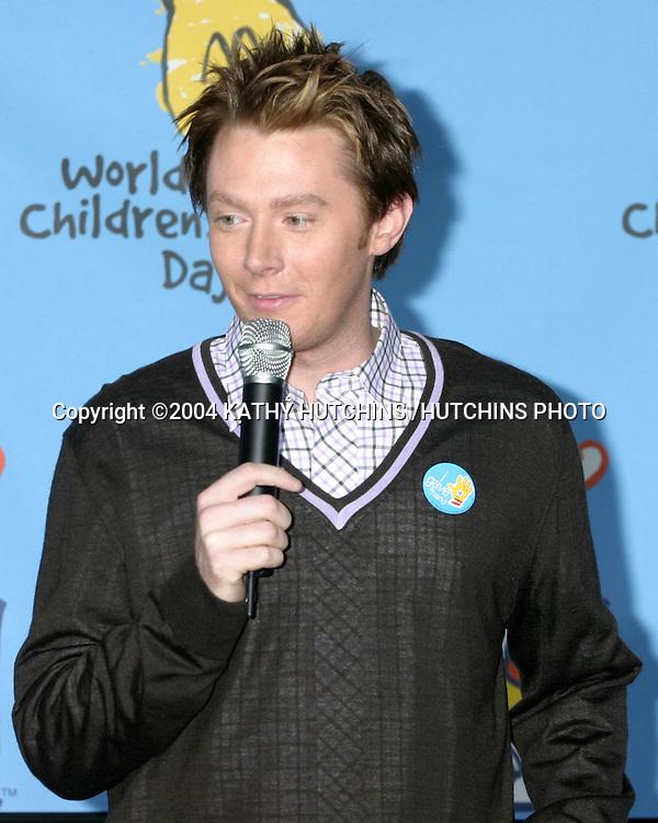 ©2004 KATHY HUTCHINS /HUTCHINS PHOTO.WORLD CHILDREN'S DAY KICKOFF.MCDONALD'S .LOS ANGELES, CA  .NOVEMBER 9, 2004..CLAY AIKEN