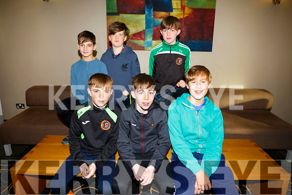 Enjoying the Churchill GAA Awards at Ballyroe Heights Hotel on Sunday were front l-r Oran Murphy, Harvey Brosnan, Eric Borowi, Back l-r Barry Hamilton, Dylon Walsh and Cian O'Gara