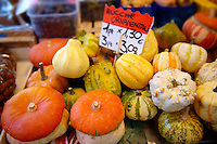 Zucche or squash - Rialto vegetable market - Venice Italy