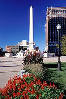 Buffalo, New York, NY, McKinley Monument at Niagara Square in downtown Buffalo.
