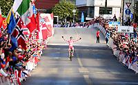 Picture by Simon Wilkinson/SWpix.com - 23/09/2017 - Cycling UCI 2017 Road World Championships Bergen Norway - Road Race <br /> Mens Junior- winner and rainbow jersey - JOHANSEN Julius