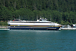 Alaska, Juneau: Newest of Alaska public ferries, the Fairweather, and the Taku..Photo copyright Lee Foster, 510/549-2202, lee@fostertravel.com, www.fostertravel.com..