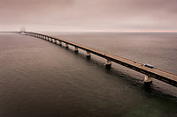 Peberholm og Øresundsbroen drone
