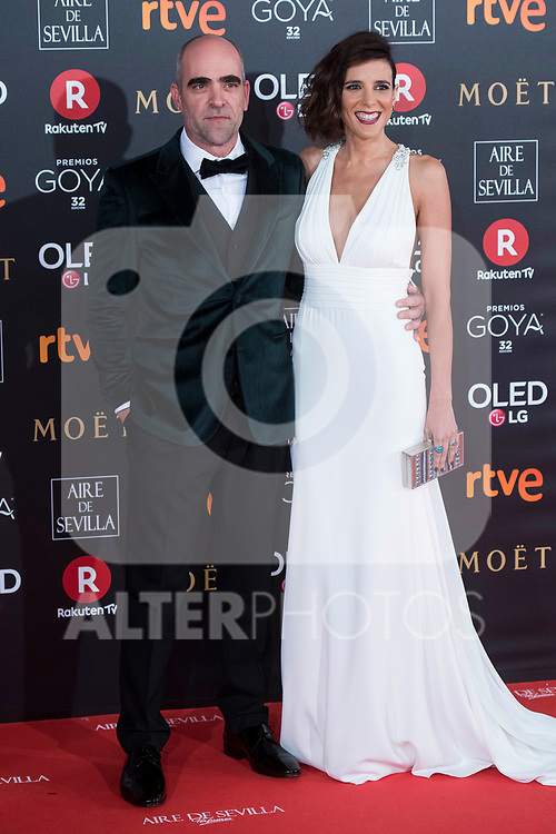 Luis Tosar and Maria Luisa Mayol attends red carpet of Goya Cinema Awards 2018 at Madrid Marriott Auditorium in Madrid , Spain. February 03, 2018. (ALTERPHOTOS/Borja B.Hojas)