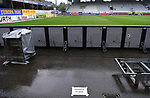 FussballFussball: agnph001:  1. Bundesliga Saison 2019/2020 27. Spieltag 23.05.2020<br />SC Freiburg - SV Werder Bremen<br />Fotografenplatz auf der Gegengerade im leeren Schwarzwald-Stadion<br />FOTO: Markus Ulmer/Pressefoto Ulmer/ /Pool/gumzmedia/nordphoto<br /><br />Nur für journalistische Zwecke! Only for editorial use! <br />No commercial usage!