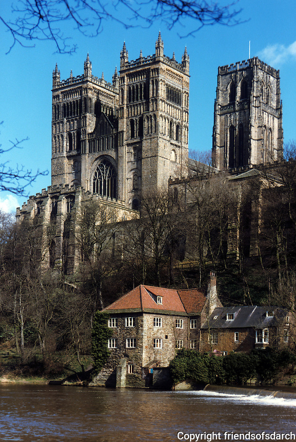 Durham: Durham Cathedral. View from River Wear. Reference only.