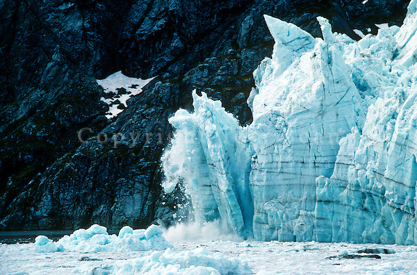 Ice calving from tidewater face of Margerie Glacier in Glacier Bay National Park, Alaska, AGPix_0392.