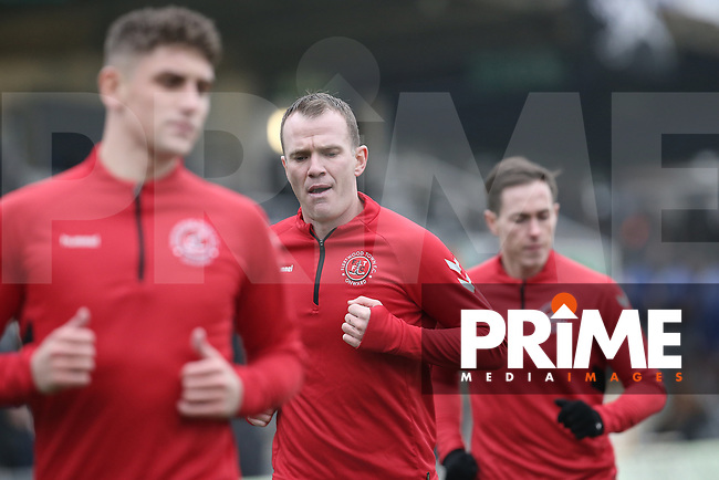 New signing Glenn Whelan of Fleetwood Town warms up before the Sky Bet League 1 match between Bristol Rovers and Fleetwood Town at the Memorial Stadium, Bristol, England on 25 January 2020. Photo by Dave Peters / PRiME Media Images.