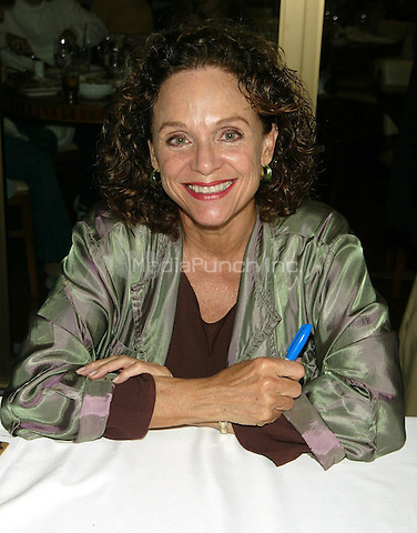 TV veteran and Broadway Cares long time supporter Valerie Harper at the celebrity autograph table, participating in the Broadway Cares Flea Market and Grand Auction on the Patio at Bolzano's Bar Cucina in Shubert Alley in New York City. September 25, 2005. ©Marzullo/MediaPunch.