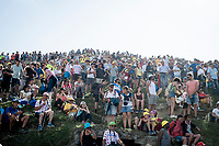 LOTS of people up the Tourmalet summit<br /> <br /> Stage 14: Tarbes to Tourmalet (117km)<br /> 106th Tour de France 2019 (2.UWT)<br /> <br /> ©kramon