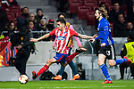 Angel Correa (L) of Atletico de Madrid is followed by Rasmus Falk of FC Copenhague during the UEFA Europa League 2017-18 Round of 32 (2nd leg) match between Atletico de Madrid and FC Copenhague at Wanda Metropolitano  on February 22 2018 in Madrid, Spain. Photo by Diego Souto / Power Sport Images