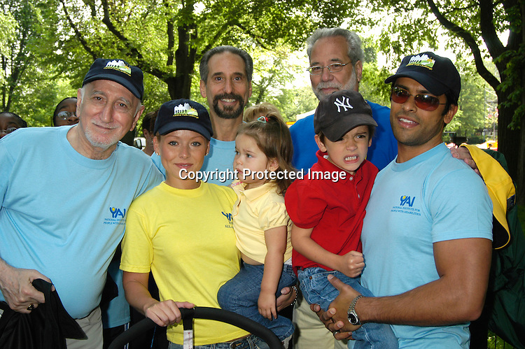 Kelly Ripa & Lola & Mark Consuelos & son Michael                                            ..at the Yai Central Park Challenge celebrating people with ..Disabilities  on May 31, 2003 in Central Park in ..New York City...Photo by Robin Platzer, Twin Images ..