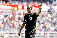 Spanish referee Alfonso Alvarez Izquierdo during La Liga match.April 14,2013. (ALTERPHOTOS/Acero)