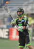 Joe LoCascio #5 of the New York Lizards takes a pass during a Major League Lacrosse game against the Ohio Machine at Shuart Stadium in Hempstead, NY on Thursday, June 29, 2017.