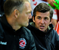 Fleetwood Town manager Joey Barton<br /> <br /> Photographer Alex Dodd/CameraSport<br /> <br /> The EFL Checkatrade Trophy - Northern Group B - Fleetwood Town v Leicester City U21 - Tuesday September 11th 2018 - Highbury Stadium - Fleetwood<br />  <br /> World Copyright &copy; 2018 CameraSport. All rights reserved. 43 Linden Ave. Countesthorpe. Leicester. England. LE8 5PG - Tel: +44 (0) 116 277 4147 - admin@camerasport.com - www.camerasport.com